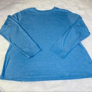 Croft & Barrow Blue long sleeve t shirt (L)